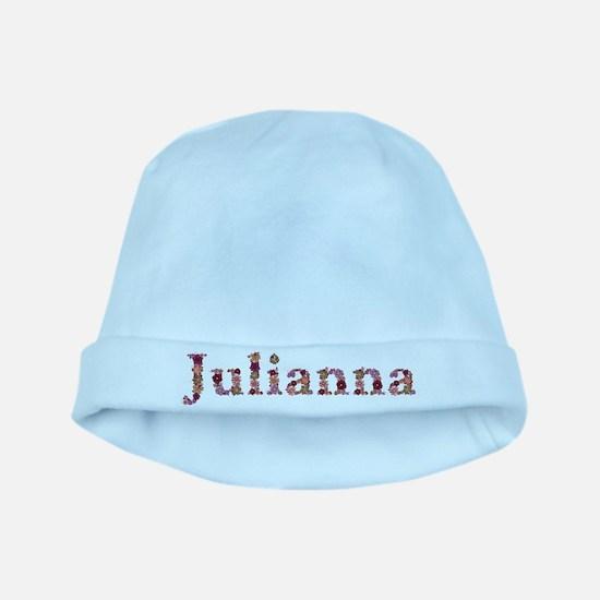 Julianna Pink Flowers baby hat