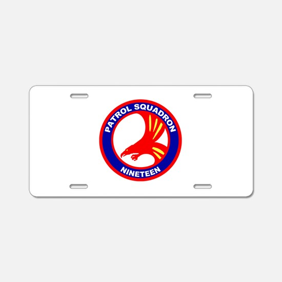VP 19 Big Red Aluminum License Plate
