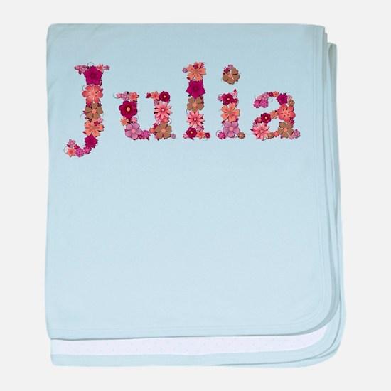 Julia Pink Flowers baby blanket