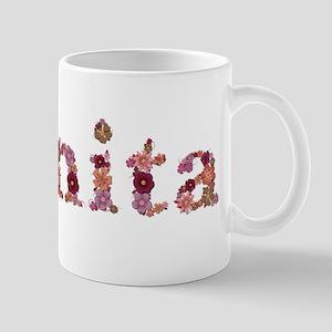 Juanita Pink Flowers Mugs