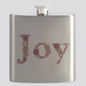 Joy Pink Flowers Flask