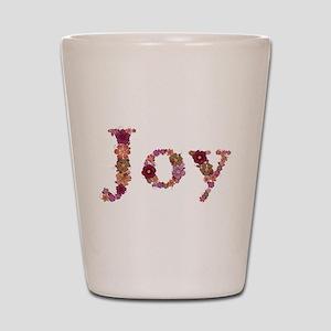 Joy Pink Flowers Shot Glass