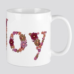 Joy Pink Flowers Mugs