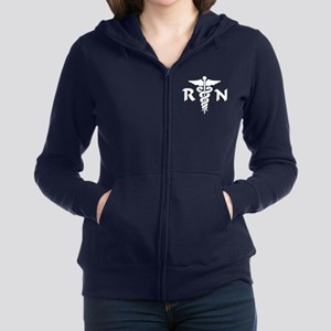 RN Nurse Medical Symbol Zip Hoodie