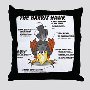 The Harris Hawk Throw Pillow