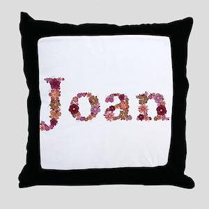 Joan Pink Flowers Throw Pillow
