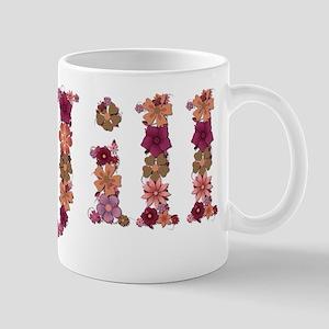Jill Pink Flowers Mugs