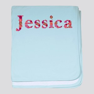 Jessica Pink Flowers baby blanket