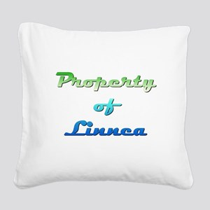 Property Of Linnea Female Square Canvas Pillow