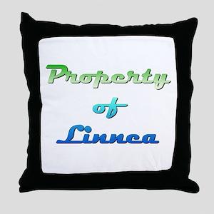 Property Of Linnea Female Throw Pillow
