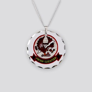 VP 17 White Ligtnings Necklace Circle Charm