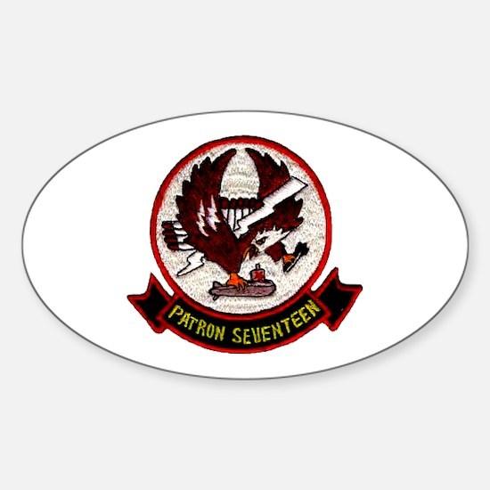 VP 17 White Ligtnings Sticker (Oval)