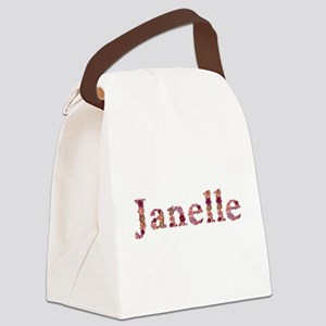 Janelle Pink Flowers Canvas Lunch Bag