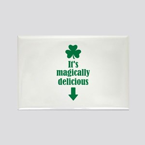 It's magically delicious shamrock Rectangle Magnet