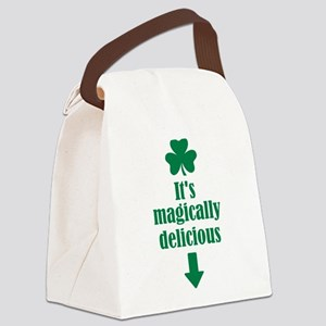 It's magically delicious shamrock Canvas Lunch Bag