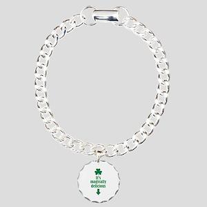 It's magically delicious shamrock Charm Bracelet,