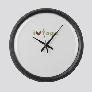 LoveYoga Large Wall Clock