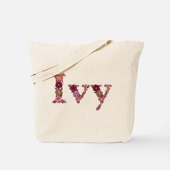 Ivy Pink Flowers Tote Bag