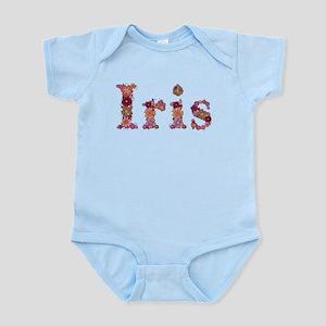 Iris Pink Flowers Body Suit