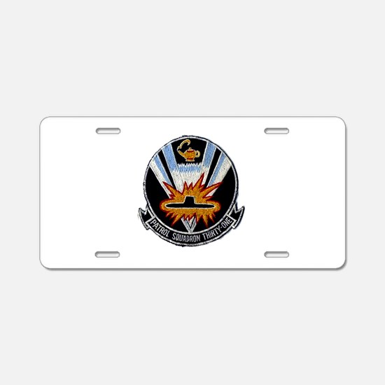 VP 31 Black Lightings Aluminum License Plate