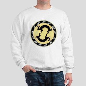 MIMBRES BUNNY RABBITS BOWL DESIGN Sweatshirt