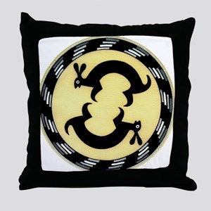 MIMBRES BUNNY RABBITS BOWL DESIGN Throw Pillow