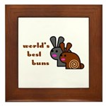 World's Best Buns Framed Tile