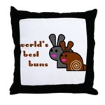 World's Best Buns Throw Pillow