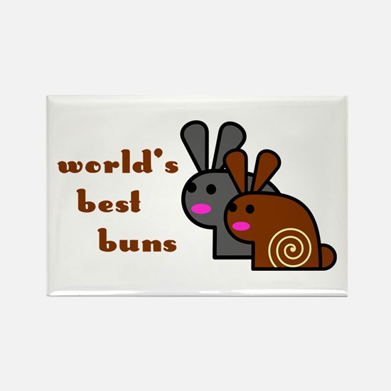 World's Best Buns Rectangle Magnet