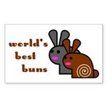 World's Best Buns Rectangle Sticker