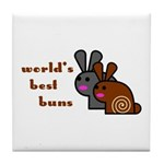 World's Best Buns Tile Coaster