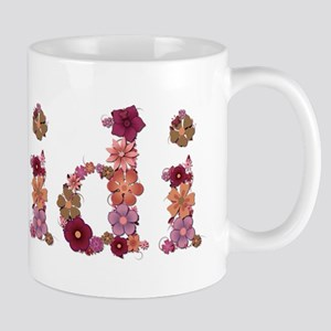 Heidi Pink Flowers Mugs