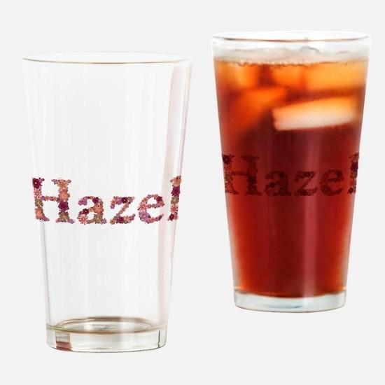 Hazel Pink Flowers Drinking Glass
