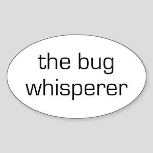 Bug Whisperer Oval Sticker