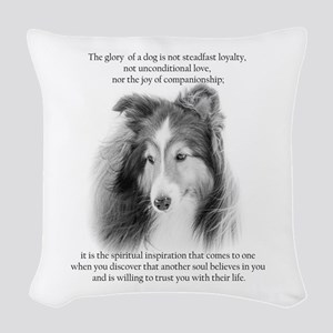 Sheltie Glory Woven Throw Pillow