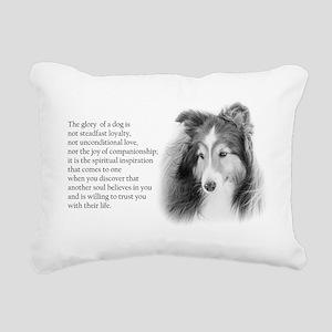 Sheltie Glory Rectangular Canvas Pillow