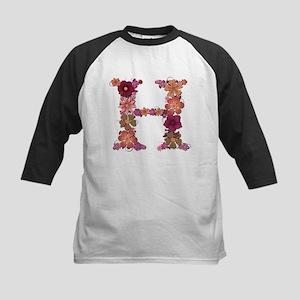 H Pink Flowers Baseball Jersey