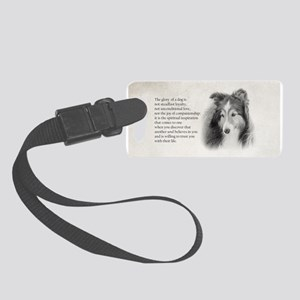 Sheltie Glory Luggage Tag