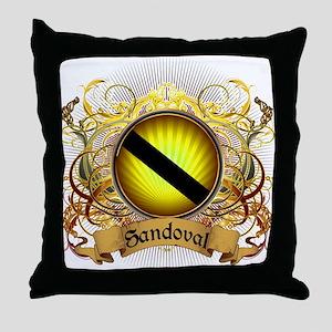 Sandoval Family Crest Throw Pillow