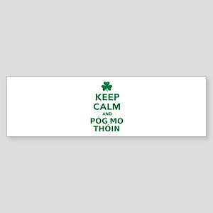 Keep calm and póg mo thóin Sticker (Bumper)