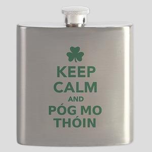 Keep calm and póg mo thóin Flask