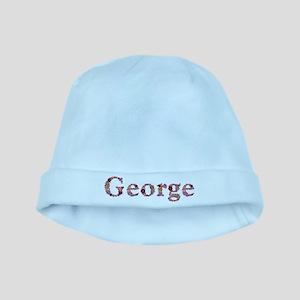 George Pink Flowers baby hat