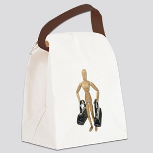 ModelCarryingLuggage061111 Canvas Lunch Bag