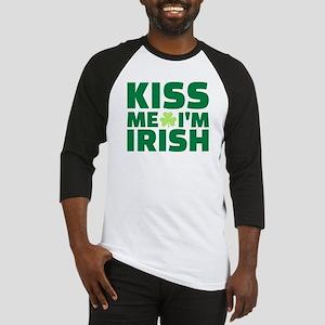 Kiss me I'm Irish shamrock Baseball Jersey