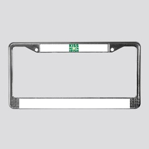 Kiss me I'm Irish shamrock License Plate Frame