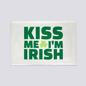 Kiss me I'm Irish shamrock Rectangle Magnet
