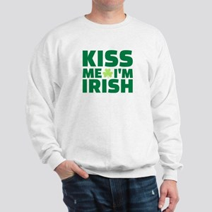 Kiss me I'm Irish shamrock Sweatshirt