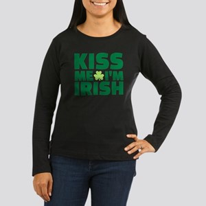 Kiss me I'm Irish shamrock Women's Long Sleeve Dar