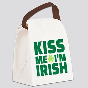 Kiss me I'm Irish shamrock Canvas Lunch Bag