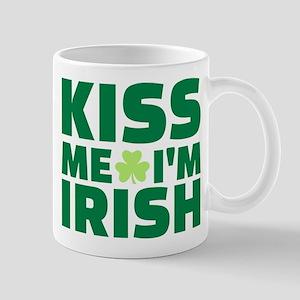 Kiss me I'm Irish shamrock Mug
